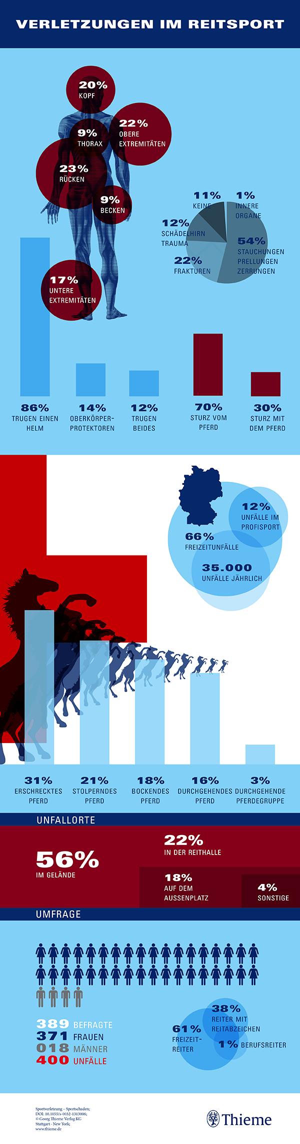 Infografik: Verletzungen im Reitsport